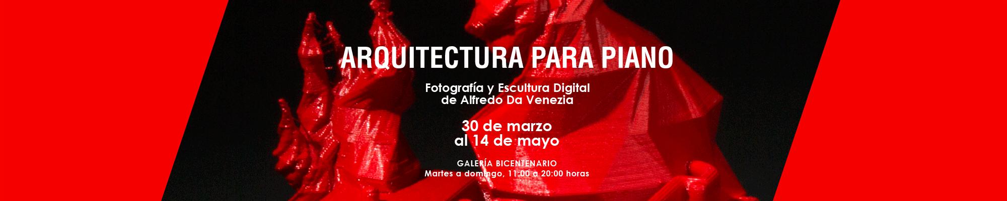 Arquitectura para Piano. Fotografía y Escultura Digital de Alfredo Da Venezia