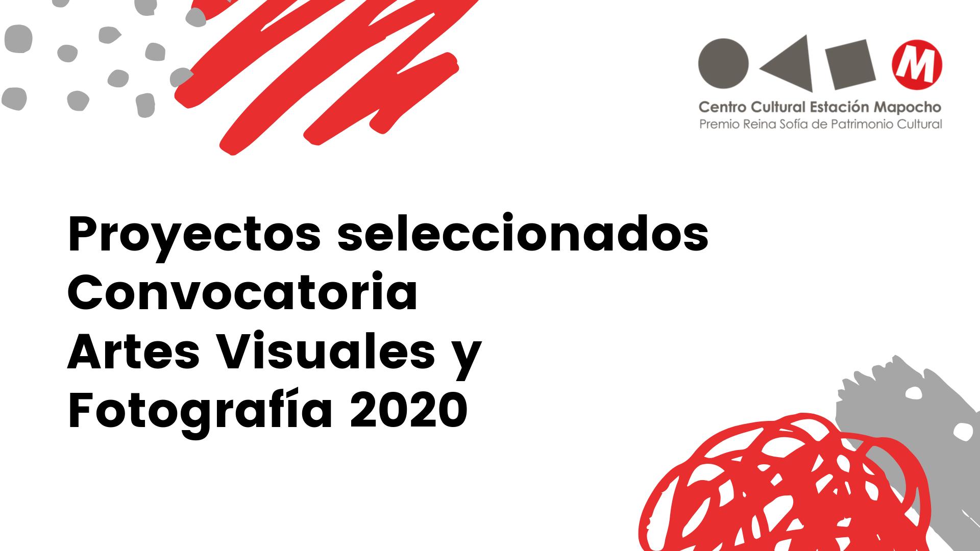 Proyectos seleccionados Convocatoria Artes Visuales y Fotografía 2020