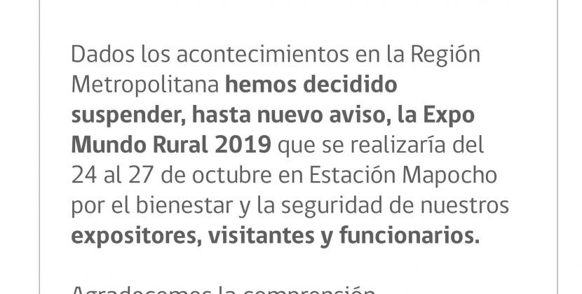 Comunicado Expo Rural